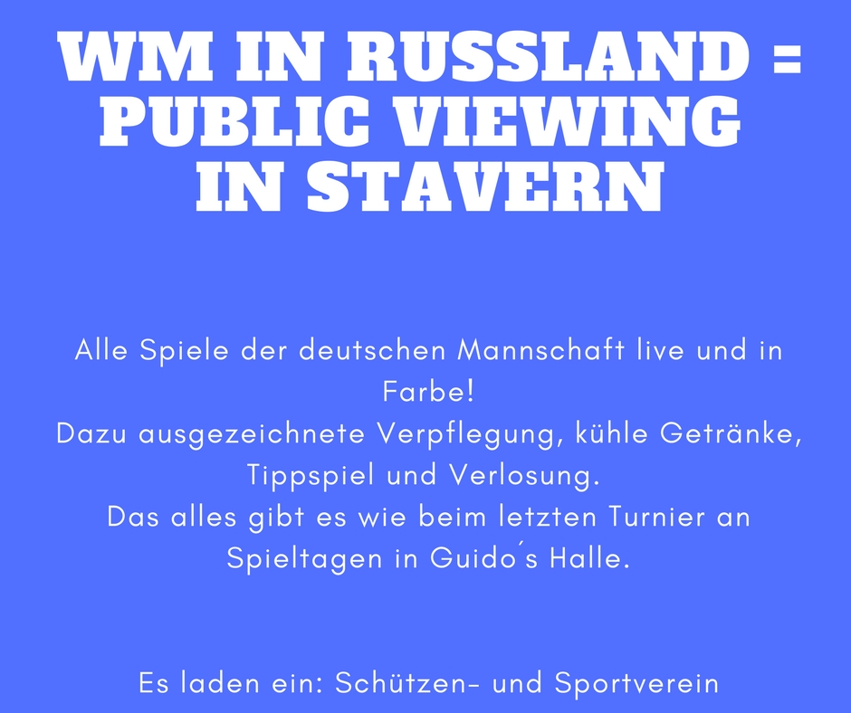 Public Viewing zur WM 2018